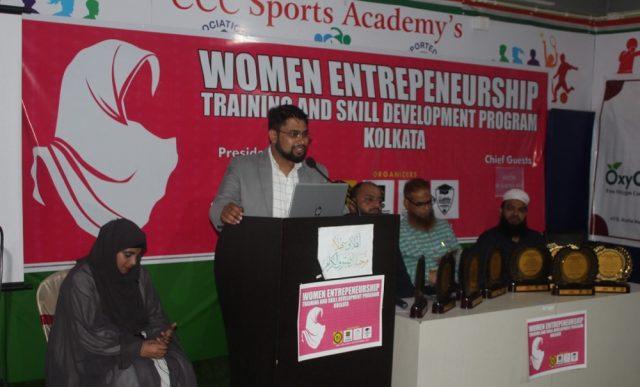 Huzaifa Arshad during training at Women Entrepreneurship Training and Skill Development Programme in Kolkata
