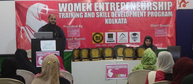 Danish Reyaz during training at Women Entrepreneurship Training and Skill Development Programme in Kolkata