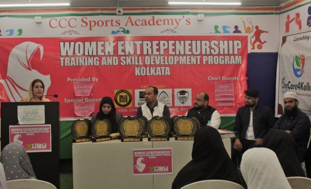 Dr. Saminah Khan during training at Women Entrepreneurship Training and Skill Development Programme in Kolkata