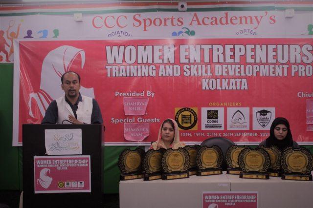 Rajkumar Pal during training at Women Entrepreneurship Training and Skill Development Programme in Kolkata