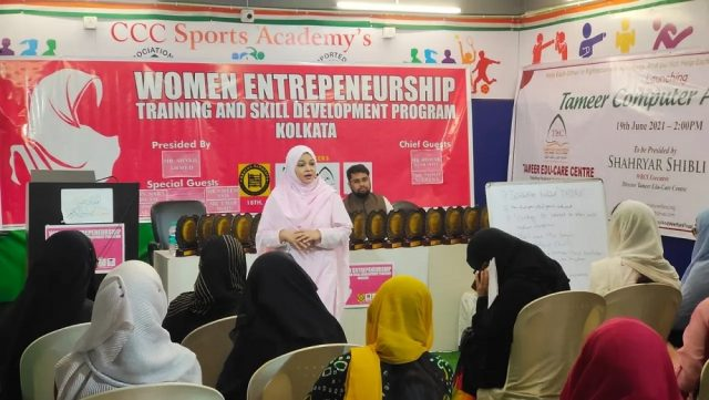 Rukhshi Kadiri Elias during training at Women Entrepreneurship Training and Skill Development Programme in Kolkata